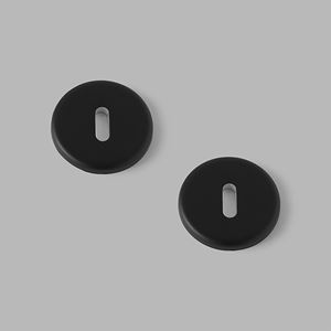 Pebble key escutcheon black