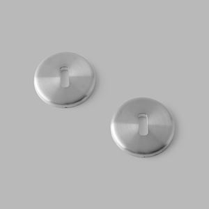 Pebble key escutcheon steel