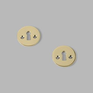 Key escutcheon brass