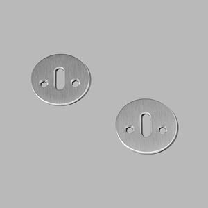 Key escutcheon solid rose steel