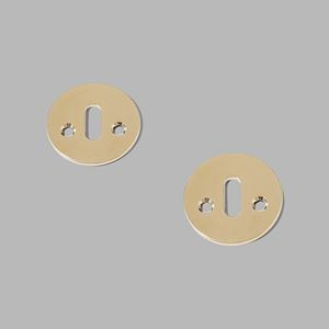 Key escutcheon solid rose brass