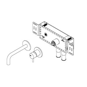 Built-in tap 190 mm - steel